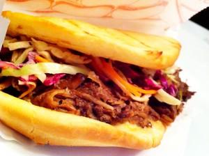 Jerk Pork Sandwich at Barton Snacks