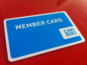 Car2Go Membership Card