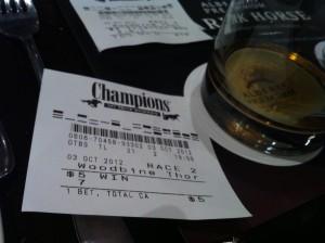 My first bet