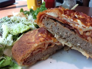 Pepperoni & Bacon Pizzaburger 2