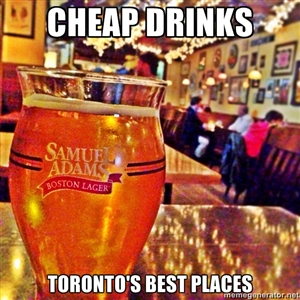 Cheap Drinks Toronto