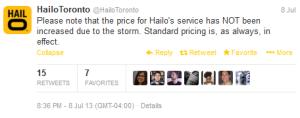 hailo price surge