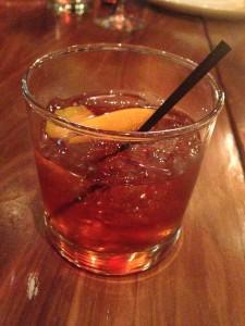 BUONA NEGRONI (2.25oz) $15 Bombay Sapphire Gin, Antica Formula and Campari