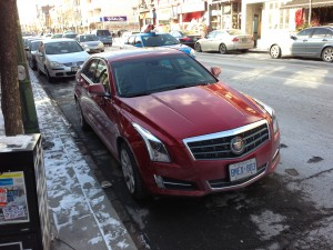 Cadillac ATS on the road