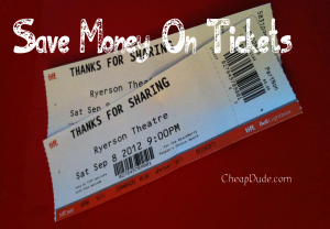 Save Money On Tickets