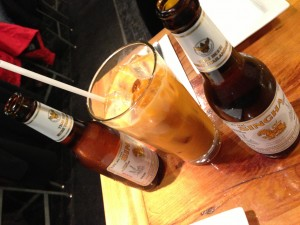 Thai Iced Tea & Singha Beers