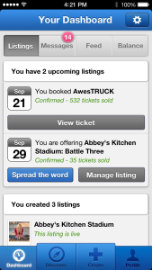 Uniiverse iPhone App Event Management